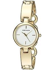 Anne Klein Womens AK/2698SVGB Gold-Tone Open Bracelet Watch
