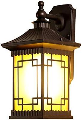 ZCY Lámpara De Pared Al Aire Libre, Retro E27 Impermeable Patio Jardín Pasillo Corredor Apliques De Pared, Interior Casa Luces Accesorio: Amazon.es: Hogar