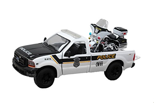 Harley-Davidson 1999 Ford F-350 Super-Duty Pickup Police + 2004 FLHIPI Electra Glide Police White