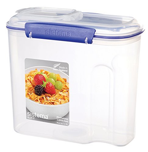 Sistema Klip It Collection Cereal Food Storage Container, 94 Ounce/11 Cup by Sistema (Sistema Cereal Container compare prices)