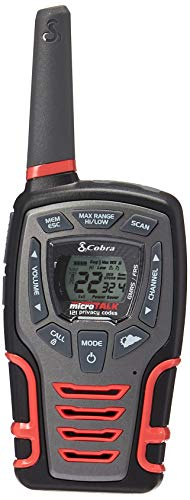 Cobra CXT531 Kids' Walkie Talkies Two-Way Radios Toy for Kids, Rechargeable with Dock, Black & Red (Pair) by Cobra (Image #1)