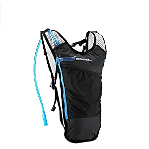 GDSZ Hydration Pack Hydration Backpack Waterproof Cycling Bike Bags Outdoor Sports Running Hiking Camping Cycling Backpack With 2LTPU Leak Proof Water Bladder,Blue