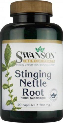 Swanson Stinging Nettle Root 500 Milligram, 100 Caps (Pack of 3)
