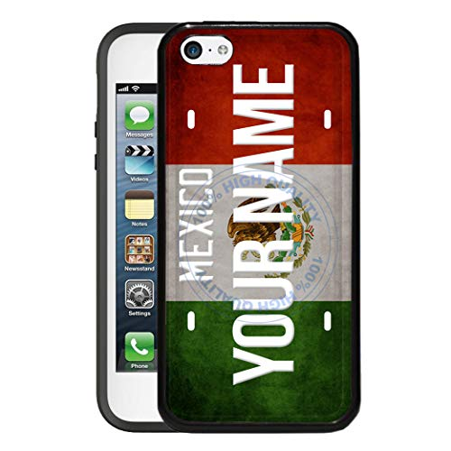 (BRGiftShop Customize Your Own License Mexico Flag Country Plate Rubber Phone Case for Apple iPod Touch 5th & 6th Generation)
