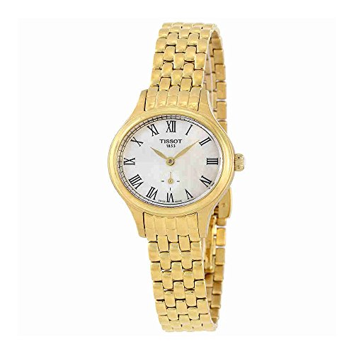 Tissot Womens Swiss BELLA ORA (SMALL LADY) Stainless Steel Gold tone Watch T1031103311300