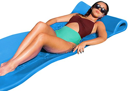 Texas Recreation Sunray Swimming Foam Pool Floating Mattress, Marina Blue, 1.25