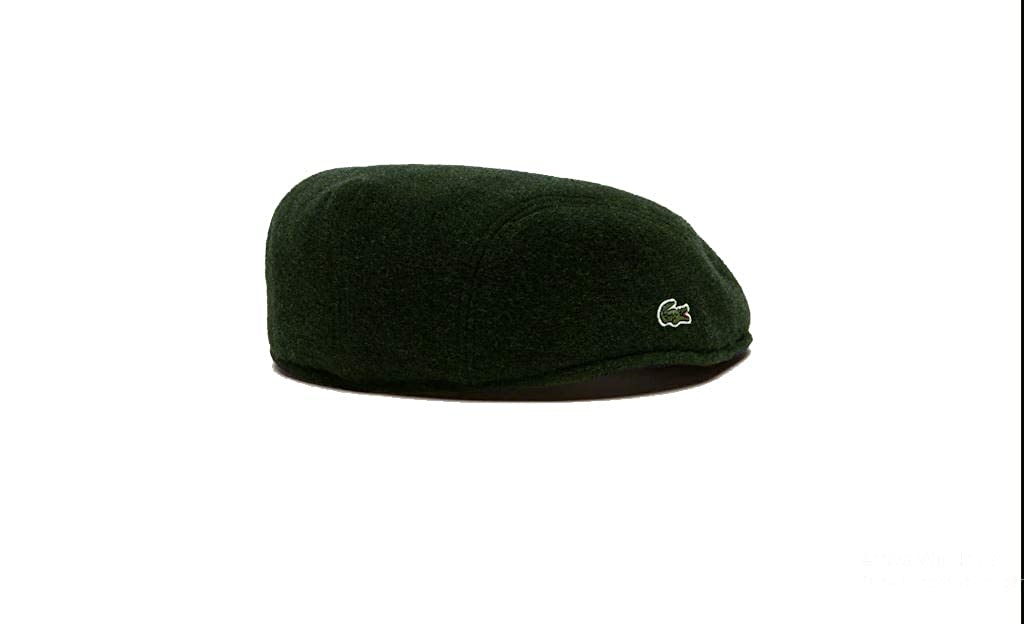 a3ec3cefd8ba Lacoste Men's Beret Green Dark Green Large: Amazon.co.uk: Clothing