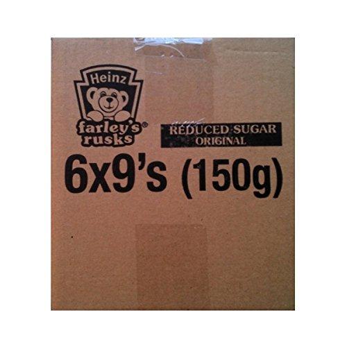 Farleys Rusks Reduced Sugar Original - 6 x 9's (150g)