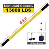 "Lift Sling Straps, JCHL 6.5'X2"" Heavy Duty Flat Eye Lift Sling 13,000 lbs Capacity Lifting Straps Nylon Tree Saver Recovery Strap Web Sling Winch Strap 2-Pack"