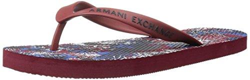Armani Exchange Men's Printed Graphic Flip-Flop Exotic Rhubarb