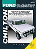Ford Pick-Ups and Bronco Repair Manual 1973-79 covering Ford F-100, F-150, F-250, F-350 and Bronco, 2 and 4 wheel drive