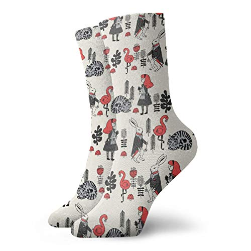 Alice And White Rabbit Cheshire Cat Ankle Socks For Women & Men - Running Travel Flight Socks