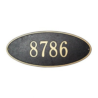Madison Estate Wall Address Plaque Color: Bronze/Gold Letters - Oval Estate Wall Plaque