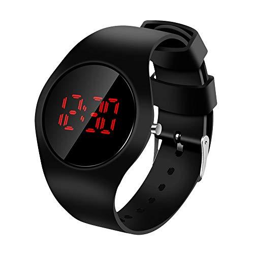 🥇 Clastyle Relojes LED Digital Deportivo para Hombre y Mujer Relojes de Pulsera Moda Casual con Correa de Silicona Negro