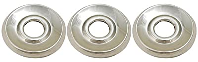 Shower Faucet Flange (3 Pieces) Fit Delta or Peerless 2- Or 3-handle Shower Valve, Chrome Plated - By Plumb USA