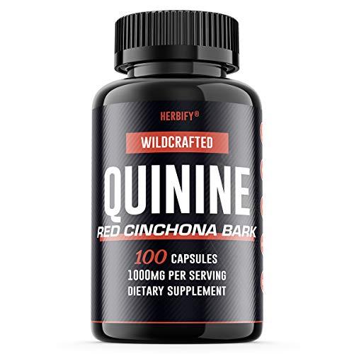 Quinine Pills 1000mg, Red Cinchona Bark (Cinchona succirubra) & Peruvian Bark (Cinchona officinalis) Powerful Combination, Wild Harvested Herbal Supplement, 100 Capsules (100) (Powdered Cinchona Bark)