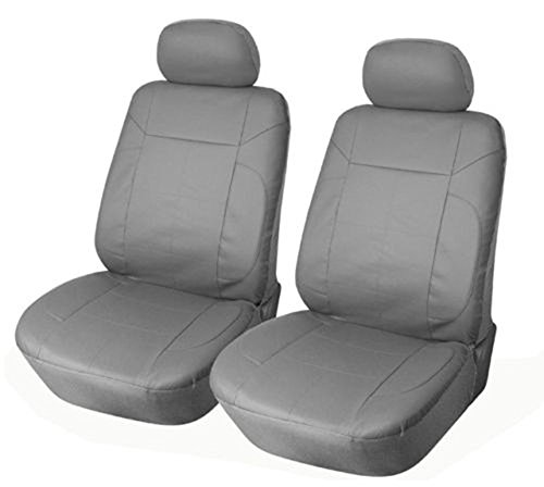 [OPT® Brand. Vinyl Leather 4PC SET Mitsubishi Front Car Auto Seat Covers, Solid Gray Color. 7777153-GY. Free Shipping From New York.] (Mitsubishi Mirage Vinyl)
