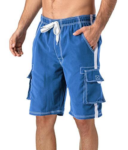 MAGCOMSEN Swim Shorts Men Long Beach Shorts for Men Swim Trunks Big and Tall Boardshorts for Men Mesh Liner Bathing Shorts Water Shorts with Pockets ()
