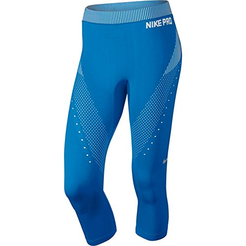 Nike Women's Pro Hypercool Limitless Capri 725635 (Large, Light Photo Blue/White/Cool Grey)