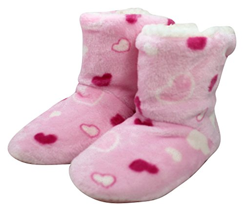Hearts Pink Enimay Polka Relaxed Slipper Shoes Boots Lounge hearts Dots Womens House Stars 3 PwRrP7pq