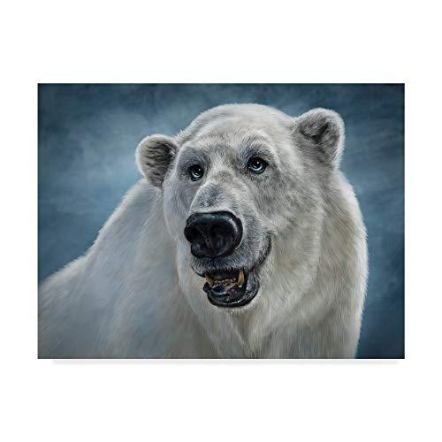 Trademark Fine Art Polar Bear Totem by Patrick LaMontagne, 35x47