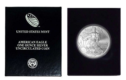 - 2010 - American Silver Eagle in Plastic Air Tite and Blue Gift Box with our Certificate of Authenticity Dollar Uncirculated Us Mint