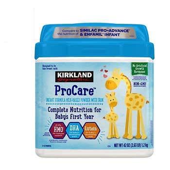 Kirkland Signature Procare Infant Formula - Non-GMO - 42 oz (2.63 pounds)