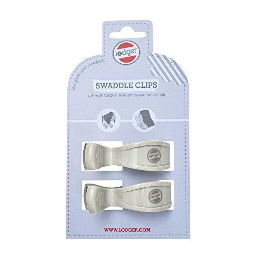 Gris, 2/unidades Lodger Swaddle Clip