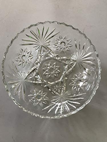 Anchor Hocking EAPC Early American Prescut Glass Star of David 7 1/4