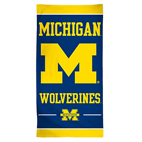 WINAV NCAA Michigan Wolverines Fiber Beach Towel, 30 x 60, Multicolor