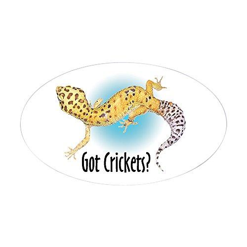 - CafePress Gecko Got Crickets Oval Sticker Oval Bumper Sticker, Euro Oval Car Decal