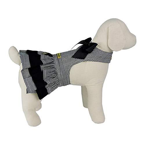 Vestido Mini Pied Bonito pra Cachorro para Cães Preto - Tamanho M