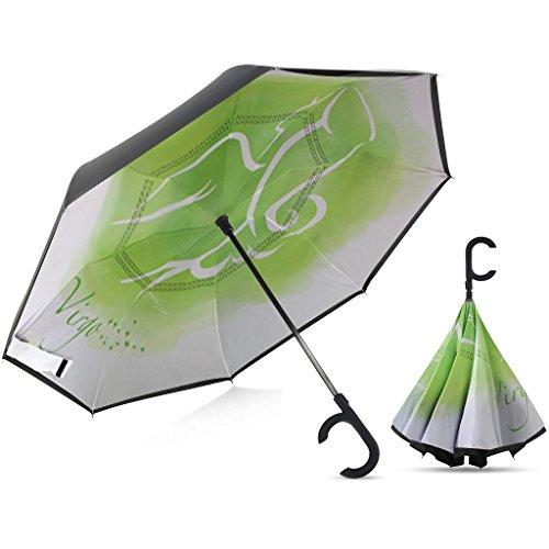 Broni Large Inverted Auto Umbrella | Virgo Zodiac