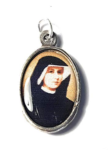 Relic Medal 3rd Class Saint Faustina Kowalska Visionary Apostle Divine Mercy Miraculous Jesus I Trust in You yo confío en Ti Coronilla Divina Misericordia (1