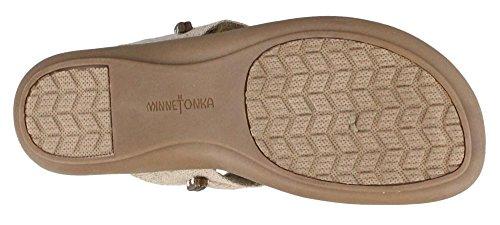 Minnetonka Kvinders Silverthorne Thong Sandal Naturlige Linned EEOfsYgmjn