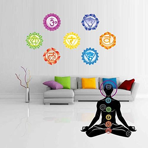 7 Unids/set 13X13 CM Chakras Wallpaper Pegatinas Mandala Yoga Om Meditació n Sí mbolo Tatuajes de Pared Chakra Inicio Decoració n de Pared Decoració n de la pared YXWYL