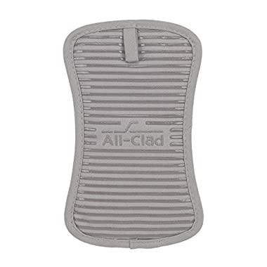 All-Clad Textiles Heavyweight 100-Percent Cotton Twill and Silicone Pot Holder, Titanium