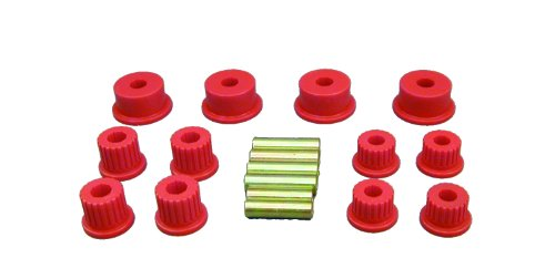 Prothane 4-1008 Red Rear Spring Eye and Shackle Bushing Kit by Prothane