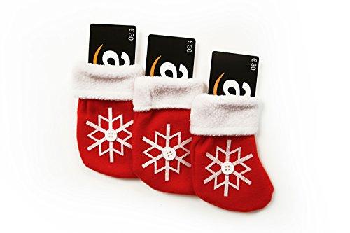 Amazon.de Geschenkkarte - 3 Karten zu je 30 EUR (Weihnachtsstrumpf)