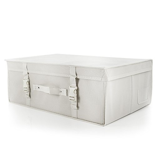 HANGERWORLD Medium White Wedding Dress Bridal Gown Garment Storage Box and Travel Carry Case