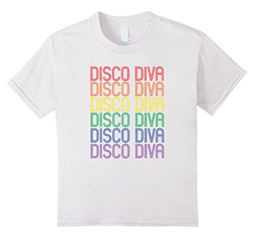 Kids Disco Diva Tee Shirt for LGBT 70s Gay Saturday Night Dancing 8 (Disco Wear For Kids)