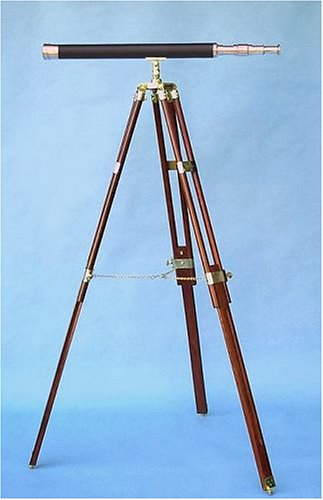 30-inch Leather Sheathed Telescope on Hardwood Tripod by Stanley London