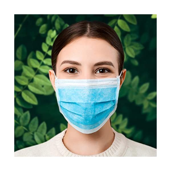 3 Ply 3 Layer Disposable Face Mask With Ear Loops Dust Mask With Filter Layer British Novamed Brand One Size Mask Box Of 50 Mask