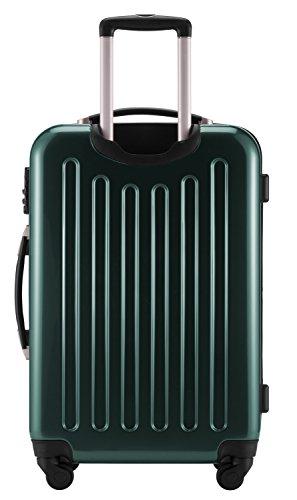 HAUPTSTADTKOFFER® 42 Liter Handgepäck · Boardcase · (55 x 35 x 20 cm) · Hochglanz · TSA Schloss · WALDGRÜN powSUtyY