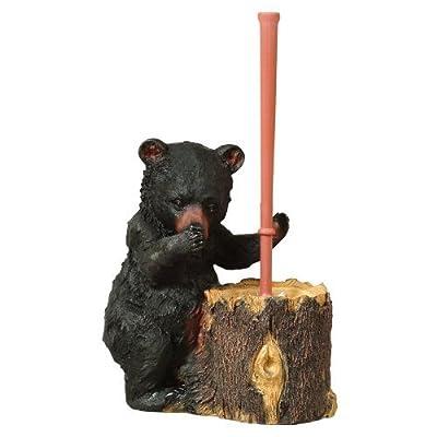 Black Bear Toilet Brush by Black Forest Decor