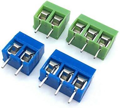 2 pines color azul conector de conexi/ón con tornillo de terminal 16 A 20 terminales de tornillo de PCB 300 V