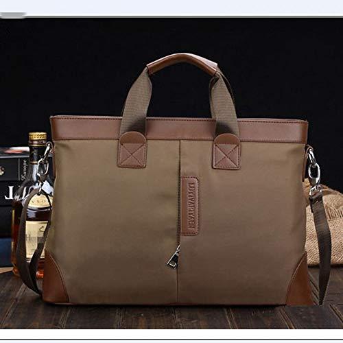 QZTG sac à main Men's Bags Nylon Briefcase for Formal Outdoor Office & Career Black Blue Khaki Sacs À Main Fourre-Tout De Grande Capacité Kaki
