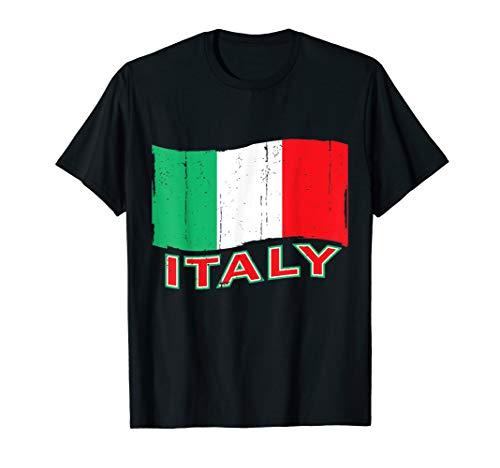 Italy Flag Vintage T-shirt I Love Italy Tee Forza Italia