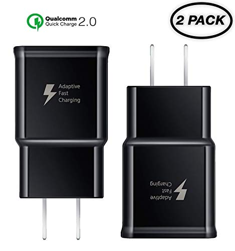 15W // Black // UL Fast Quick Charge 2 Wall Charger works with Samsung SM-T860 includes USB TypeC Port and Cable.