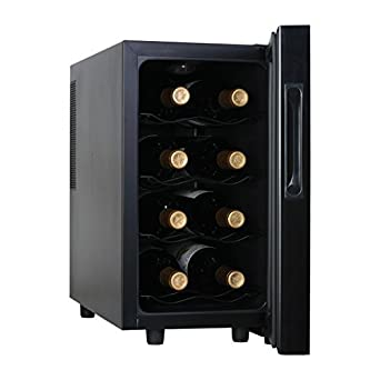 Amazon Com Haier Hvtm08abs 8 Bottle Wine Cellar With Electronic Controls Appliances